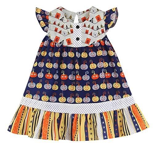 Likecrazy Baby Mädchen Casual Dress Halloween Kürbis Kleid Prinzessin Kleid Druck Outfits Kostüm Kleinkind Kinder Vintage Retro Ärmellos Festlich Kostüm - Rabatt Kleinkind Kostüm