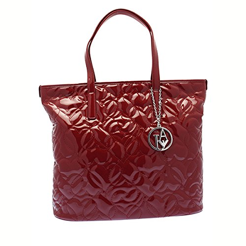 Armani Jeans Shopping bag woman Pvc/Plastic Bordeaux