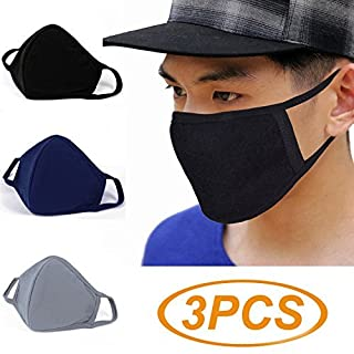 3 Pack Activated Carbon Anti Dust Face Mouth Mask, WITERY Warm Anti Dust Mask Anti-fog Mask Antibacterial Activated Carbon Earloop Mouth Mask Face Masks for Men Women