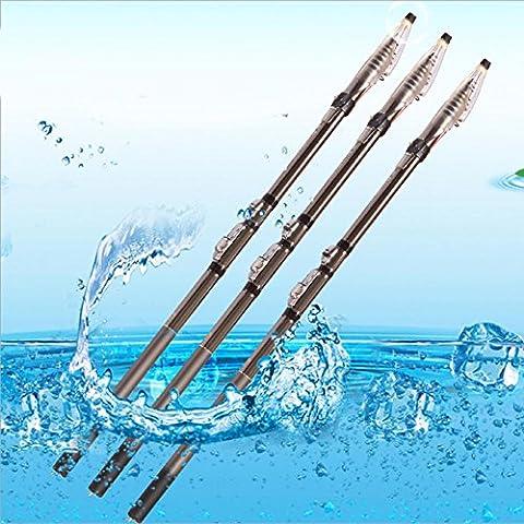 LZH Canne à pêche en mer Canne à pêche en fonte de carbone Tige télescopique longue portée 2.7m-6.3m , 5.4 m