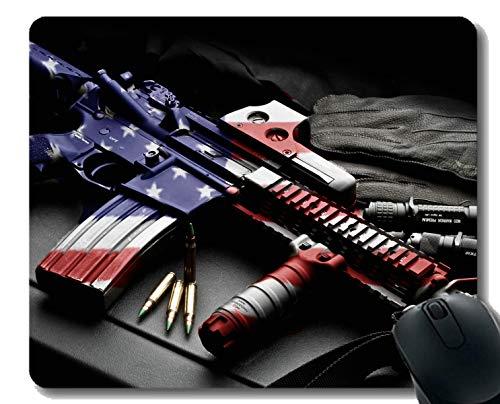 Ihr eigenes Mousepad, Colt AR-15 Schusswaffe Patriotisches Gewehr Gummibasis Mauspads -