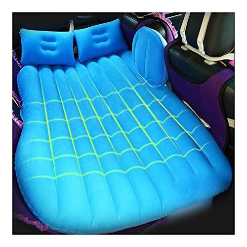 LALAWO Luftmatratze, Auto-hintere Reihen-Schlafenauflage-Luftmatratze, Auto-Bett-Reise-kampierendes Kissen PVC-materielles wasserdichtes rutschfestes, mit 2 Kissen -