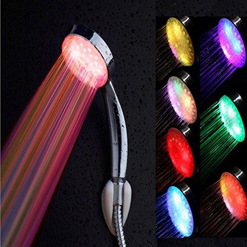Badezimmer Dusche Kopf, kingcoo 7Farbwechsel LED Dusche Kopf Bad Wasser Wasserhahn Glow Licht (Licht Badezimmer Wasserhahn)