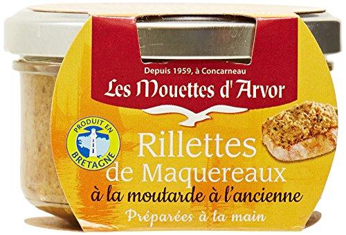Les Mouettes d'Arvor Rillettes Maquereaux Moutarde Ancienne 125 g - Lot de 4