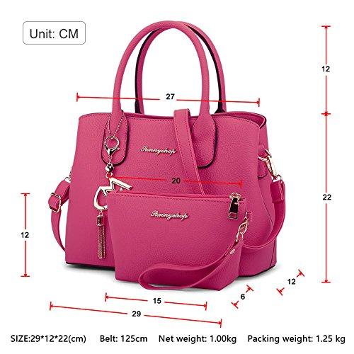 Donna Messenger Bag Borsa a Tracolla tempo libero Borsa Delle Semplice Rose Nero
