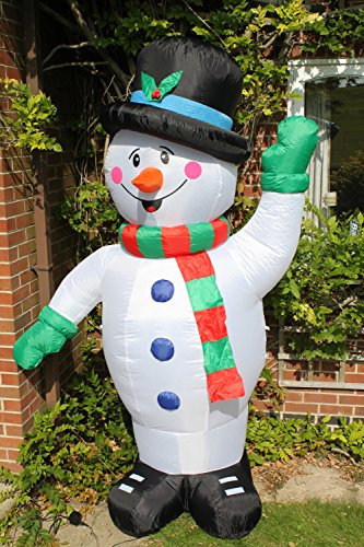 Inflatable Christmas Snowman With 4 Low Voltage Led Lights