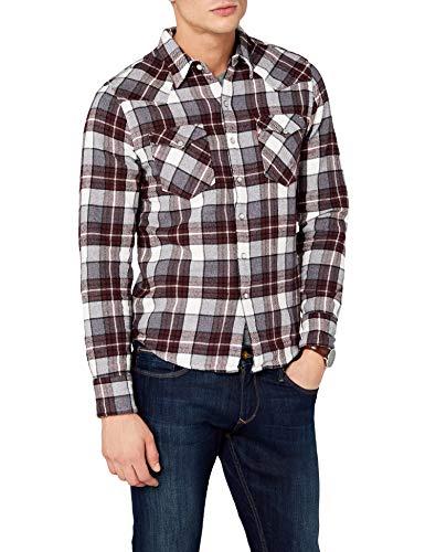 Levi's Barstow Western Camisa, Azul (Wintercress Puce 249), Large para Hombre