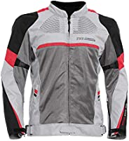TVS Polyester Riding Jacket - Level 2 (Red Line, M)