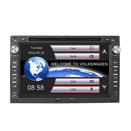 AUMUME Estéreo de coche de 7 pulgadas para VW Passat Jetta Golf...