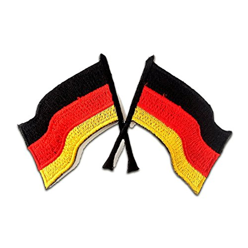 Deutsche Victory Racing Flagge Gewinner Flagge Patch ''9,8 x 7,2 cm'' - Aufnäher Aufbügler Applikation Applique Bügelbilder Flicken Embroidered Iron on Patches (Gewinner Flagge)