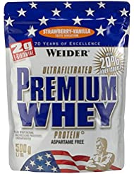 Weider Premium Whey Protein, Strawberry - Vanille, 500g Beutel