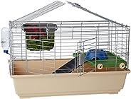 AmazonBasics Small cage habitat for rabbit, hamsters & small animals - 32 x 22 x 18 Inches, Stan