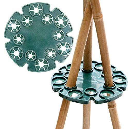 Miss Good - Juego de 6 Gorras de bambú para Soporte de cañas de Pescar para Plantas trepadoras, Guisantes, Granos y Estructura de Apoyo (Verde)