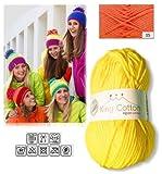 King Cotton Strick Wolle Schulgarn Bastelgarn Orange 05/55% Polyamid, 45% Baumwolle