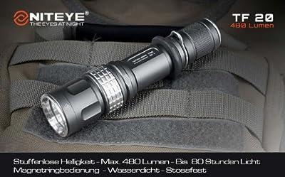 Niteye TF20, LED Hochleistungs-Taschenlampe, max. 480 Lumen