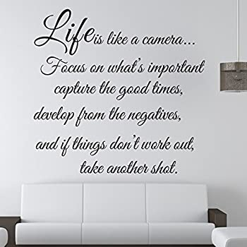 Life Is Like A Camera   Wall Decal Quote Wall Saying Wall Vinyl Stickers By  Himanjie