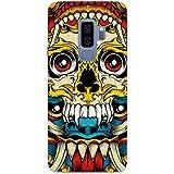 MADANYU Tribal Art Traditional Skull Art Love For Tribal Art Designer Printed Hard Back Shell Case For Samsung S9 Plus