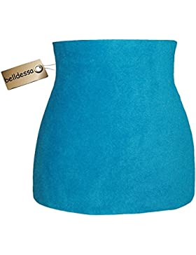 Fleece - Polarfleece - türkis / azur blau - Nierenwärmer / Rückenwärmer / Bauchwärmer / Shirt Verlängerer - ALLE...