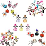 Homyl 35er Set Gemischt Engel Flügel Fee Charme Beads Perle Anhänger DIY Schmuckzubehör Perlenengel Anhänger