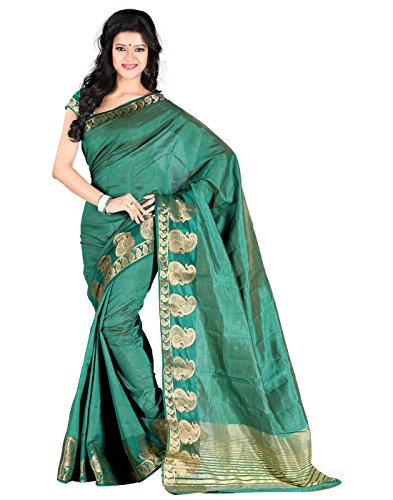 Roopkala Silks & Sarees Art Silk Saree (Dv-806_Green)