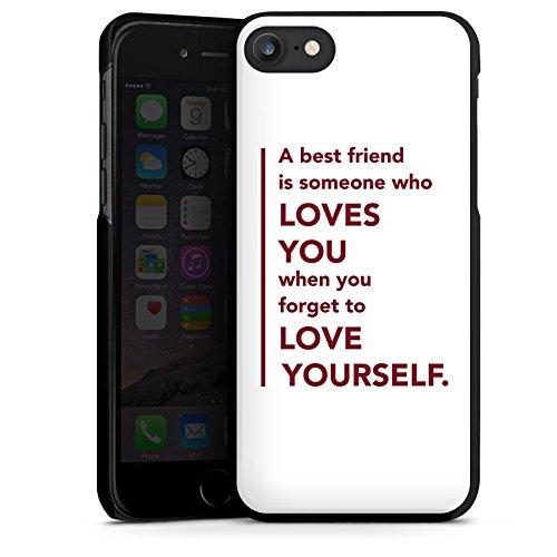 Apple iPhone X Silikon Hülle Case Schutzhülle Bester Freund Freund Freundschaft Hard Case schwarz