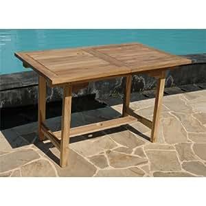 Ausziehbarer tisch aus teakholz ca 120 180 x for Amazon tisch