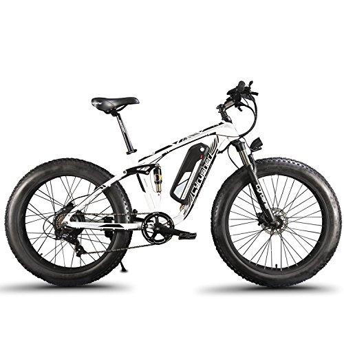 Etrbici XF800 E-Bike Mountainbike,1000W, 48V 13Ah 624Wh Akku,Elektrofahrrad 26 Zoll,Shimano 7 Gang-Schaltung, Hydraulische Bremsen, Akku mit USB-Ladeanschluss
