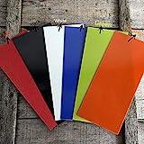 Aibote 1 Messer isolierender Stahl Papiergriff Material Platten Messer Custom DIY Werkzeug für Messerherstellung Rohlinge Klingen, blau, 18X8X0.1CM