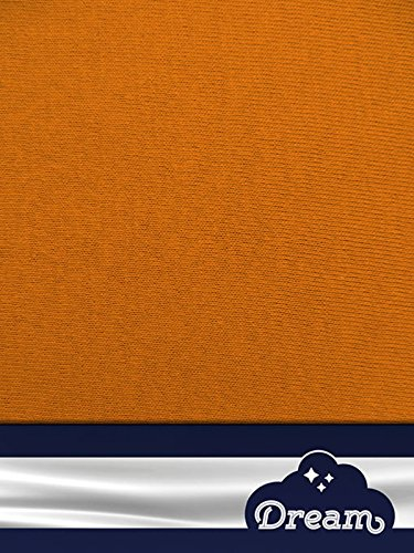 DREAM Spannbetttuch Spannbettlaken Jersey 100{4d569014c8c6625e03ffeebe75596df06eec339862b5c11128db9cd0bbe033ef} Baumwolle 140g/m² -orange-70x140