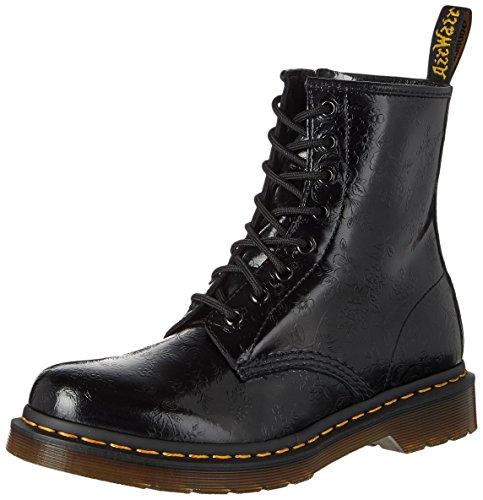 Dr. Martens 1460 QQ Flowers BLACK, Damen Combat Boots, Schwarz (Black), 38 EU (5 Damen UK) (Martens Eye 5)