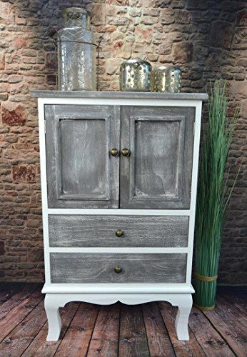 Livitat® Kommode Schrank Landhaus Shabby Chic Vintage barock Grau LV1094