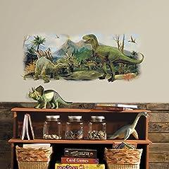 Idea Regalo - RoomMates–Adesivo Gigante da Parete Dinosauro Scena