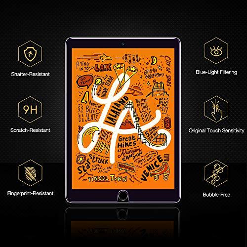 ESR Panzerglas Schutzfolie [2 Stück] kompatibel mit iPad Mini 5 2019 /iPad Mini 4 7.9 Zoll, Premius 9H Hartglas Displayschutzfolie für iPad Mini 5th Generation [HD Kristallklar Blasenfrei Kratzfest]
