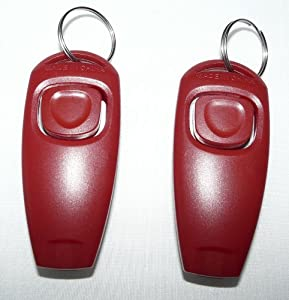 RapidTradeZone Double Pack Dog Puppy Training Obedience Clicker & Whistle with Rapidtradezone Pet Care Manual