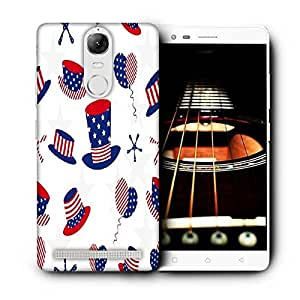 Snoogg Blue Hat Printed Protective Phone Back Case Cover For Lenovo K5 Note