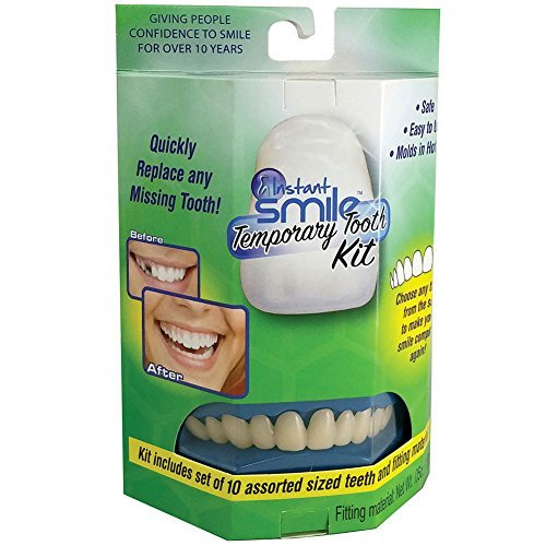 Billy-Bob Instant Smile Temporary Tooth Kit w/ 10 Upper Teeth - Smile With Confidence