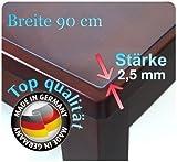 Tischdecke Tischfolie Schutzfolie Folie transparent 90 cm Breit Ca 2.5mm (160cm)