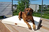 tierlando® Mobile Hundematratze HUGO BASIC | Gehobene Stabilität & Qualität! | Anti-Haar Polyester | M 80 x 60 x 13 cm | Graphit Grau - 2