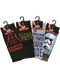 Calcetines de Star Wars (talla 39-45, 2 unidades, los diseños pueden variar)