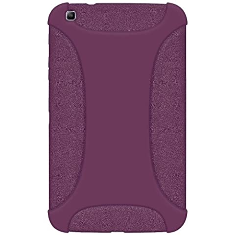 Amzer Exclusive Silicone Skin Jelly Case Cover for 8.0 inch Samsung Galaxy Tab 3 SM-T310/T315 - Purple