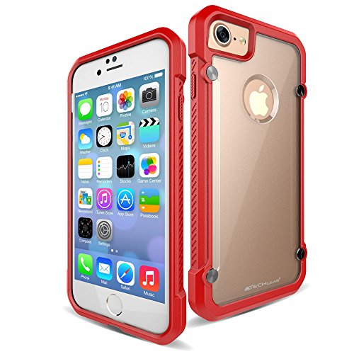 TECHGEAR® Apple iPhone 7Fall, Purple/Frost (FUSION ARMOUR), iPhone 7 Red/Frost (FUSION ARMOUR)