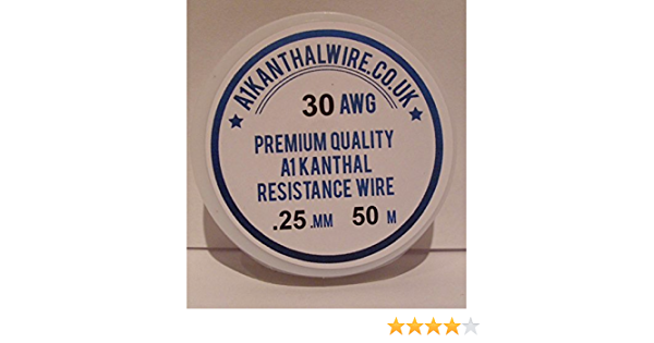 29.3 ohms//m Kanthal A1 Type Resistance Wire - 50 Metre Spool 0.25mm 30AWG