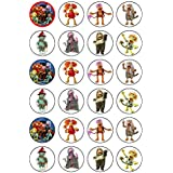 24 x Fraggle Rock comestible cupcake caketoppers