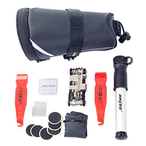 HSLPortable Multi-Reparatur-Werkzeuge Fahrradtaschen Fahrradreparatursatz Schwarz