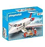 Playmobil 9534 DRK avec Caution et équipement de Soins médicaux Avion de Sauvetage