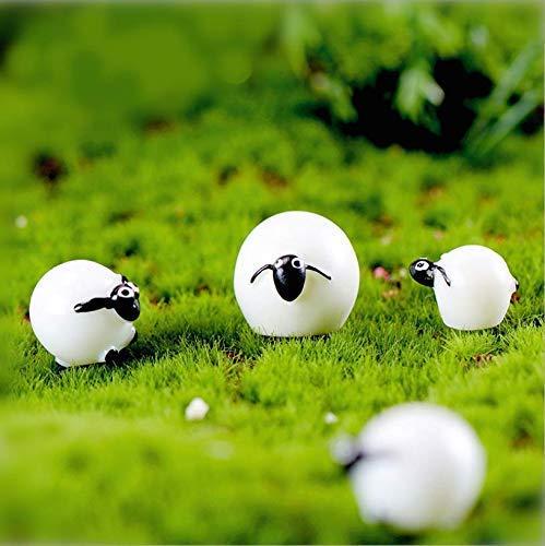 VPlus 30 Stücke Nette Mini Cabochons Schafe Ziege Harz Figuren Handwerk DIY Miniatur Tier Micro Landschaft Hause Puppenhaus Dekor für Outdoor, Patio, Micro Landschaft, Hof Bonsai (Schaf Oder Ziege Figur)