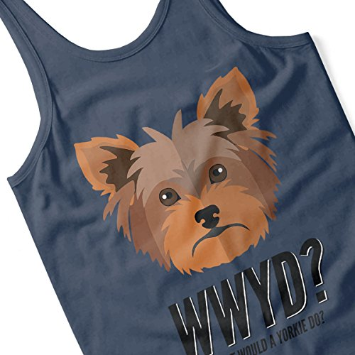 What Would A Yorkie Do Women's Vest Navy blue