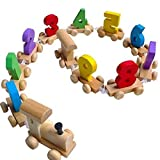 Trinkets & More - Wooden Digital Number 0-9 Train | Fine Motor Skills | Early Educational Toys for Kids 3+ Years