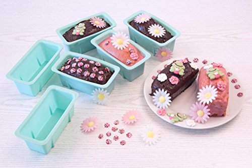 Mini Kastenform, Silikon Set 8 Stück für Minikuchen