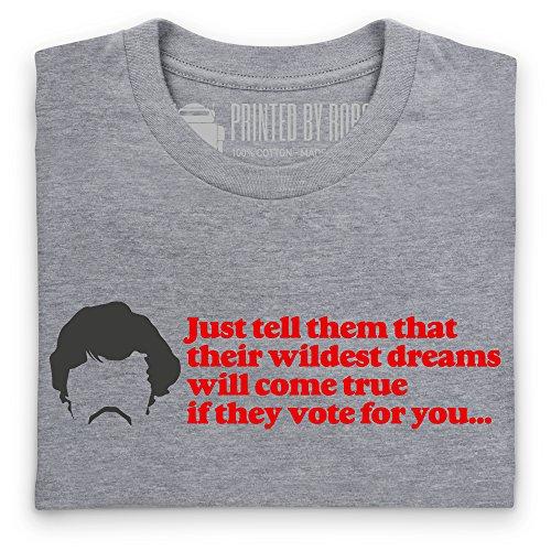 Inspired By Napoleon Dynamite - Wildest Dreams T-Shirt, Damen Grau Meliert